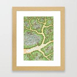 TREE TOWN Framed Art Print
