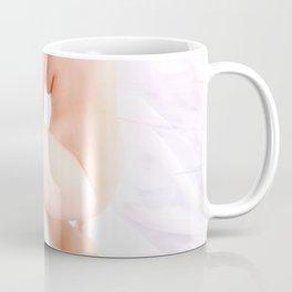 9374-KMA Brown Eyed Girl on Mirror Looking Up Fine Art Nude High Key Coffee Mug