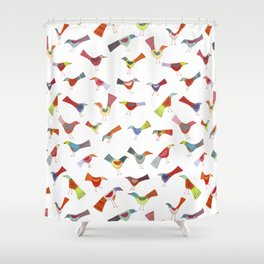 Birds doing bird things Shower Curtain