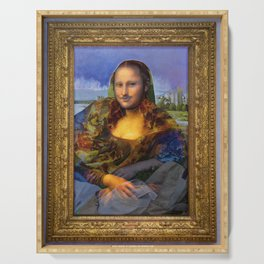 Mona (Kevin) Lisa : Satire + Contemporary Fine Art Serving Tray