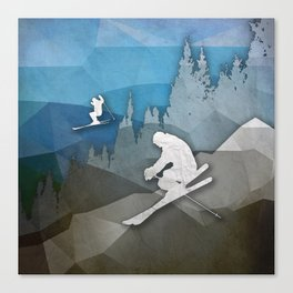The Skiers Canvas Print