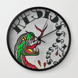 RESIST snake Wall Clock