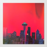 seattle Canvas Prints featuring Seattle. by Polishpattern