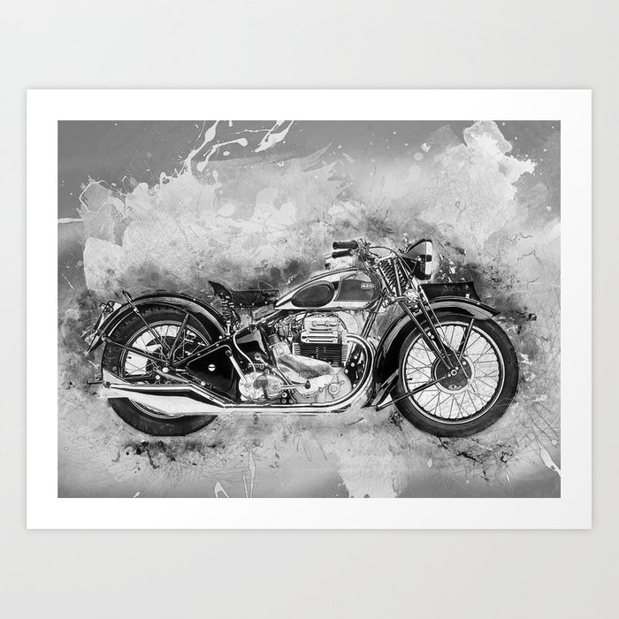 Vintage Motorcycle No2 Art Print