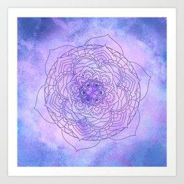 Waterolor Mandala FLower Art Print