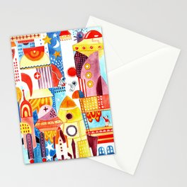 City in Space Stationery Cards