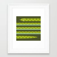 anaconda Framed Art Prints featuring Anaconda! by Helicon Hill