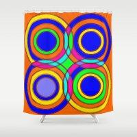 et Shower Curtains featuring couleurs et cercles by Sébastien BOUVIER