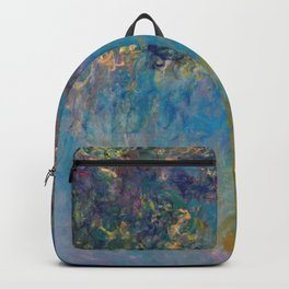 Wisteria by Claude Monet Backpack