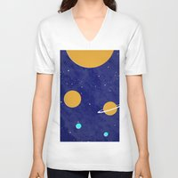 solar system V-neck T-shirts featuring Solar System by Quinn Shipton