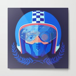 Lightspeed Racer Metal Print