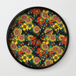 Retro bouquet Wall Clock