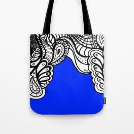 Blue Royal Doodle Artwork Tote Bag