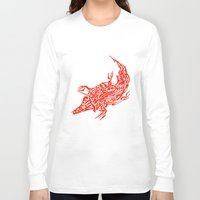 crocodile Long Sleeve T-shirts featuring Crocodile by SvetIu