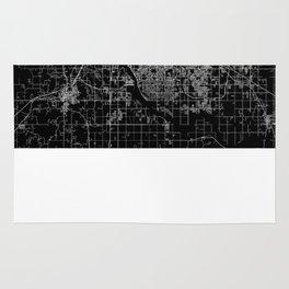 Tulsa map Oklahoma Rug