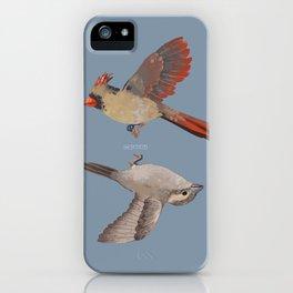 cardinal and sparrow iPhone Case