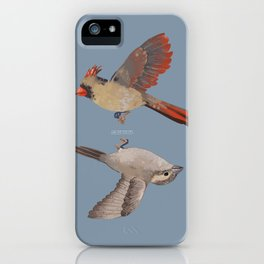 cardinal and sparrow iPhone Case