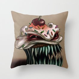 Zhola the Demonic Cupcake Throw Pillow