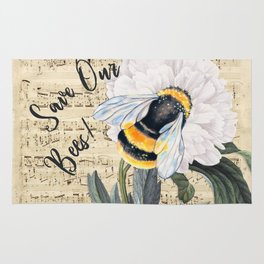 Save The Bees Collage Rug