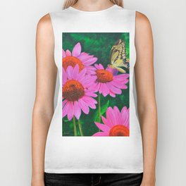 A Visitor In The Garden by Teresa Thompson Biker Tank