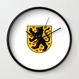 flag of weimar Wall Clock