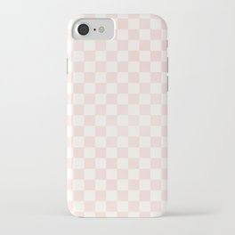 Pink Coral Checkers iPhone Case