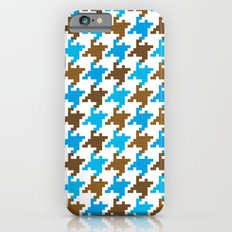 Houndstooth – blue Slim Case iPhone 6s