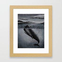 Fish and Bird Framed Art Print