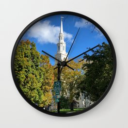 Church Spires in Providence 1 Wall Clock