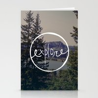 oregon Stationery Cards featuring Explore Oregon by Leah Flores