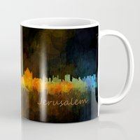 islam Mugs featuring Jerusalem City Skyline Hq v4 by HQPhoto