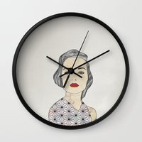 silver Wall Clocks featuring Silver by John Murphy