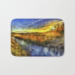Sunset River Van Gogh Bath Mat
