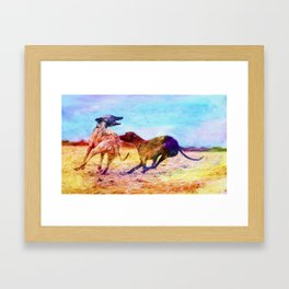 Greyhound Dogs Framed Art Print
