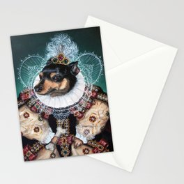 Sophia the Miniature Pinscher as Queen Elizabeth Stationery Cards