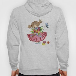 Little girl with curly hair Hoody