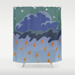 Stars and Fish Shower Curtain