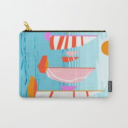 Quepasa - memphis throwback retro minimal modern neon boating yacht club sailing summer sport Carry-All Pouch
