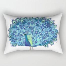 Peacock - Green and BLUE Rectangular Pillow