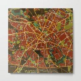 Minsk colorful map Metal Print