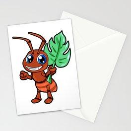 Cartoon Ant Happy Cute Anime Mange Kawaii Chibi Stationery Cards