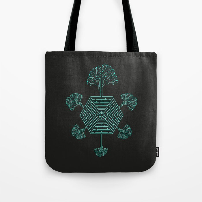 Natural Maze Tote Bag