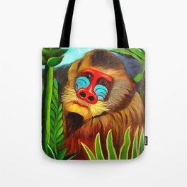 Henri Rousseau Mandrill In The Jungle Tote Bag