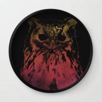 hedwig Wall Clocks featuring Hedwig by Erik Sandi Satresa