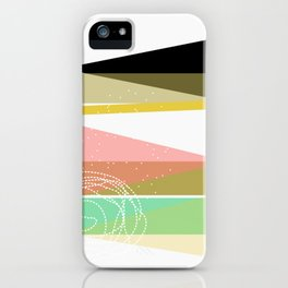 modern abstract V iPhone Case