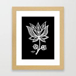 White Flower 94 Framed Art Print