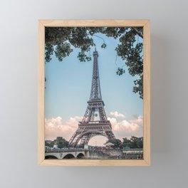 Eiffel Tower During Sunset | City Urban Landscape Photography of Paris France Framed Mini Art Print