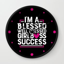 Girl Boss Success Wall Clock