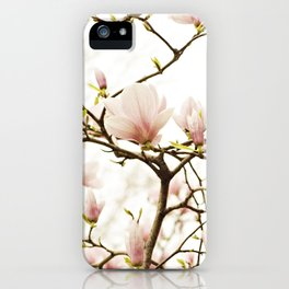 Queen For A Day Pink Magnolia Flower iPhone Case