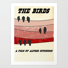 """Retro"" The Birds Art Print"